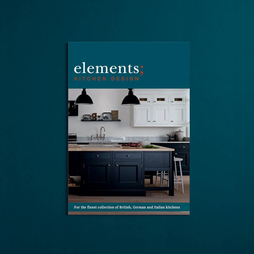 brochure, elements kitchen design